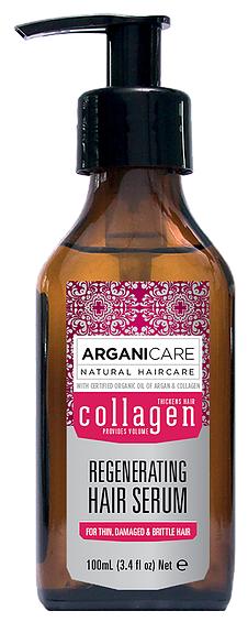 ARGANICARE Argan Oil & Collagen Сыворотка для волос с коллагеном для тонких, ломких и поврежденных волос