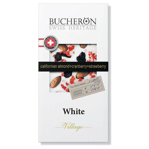 шоколад bucheron village горький с миндалем 100 г Шоколад Bucheron Village белый с миндалем, клюквой и клубникой, 100 г