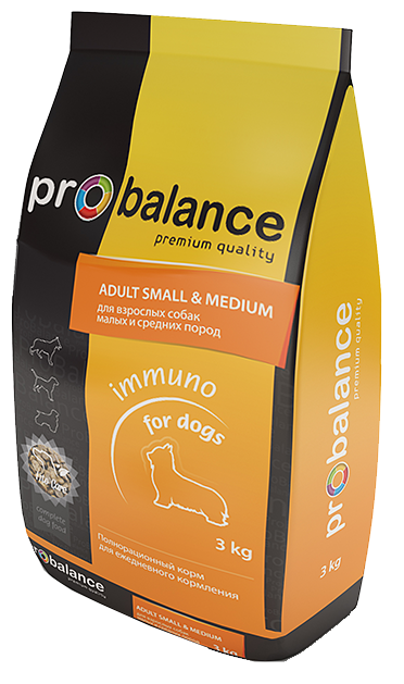 Корм для собак ProBalance Immuno Adult Small & Medium