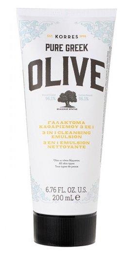 KORRES эмульсия очищающая 3в1 с маслом оливы