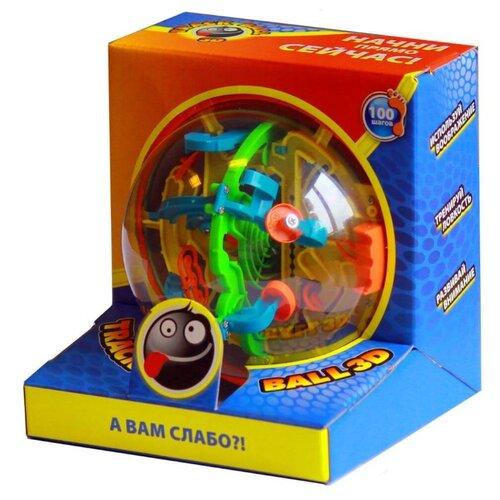 Купить Головоломка Волшебный мир Лабиринт Track Ball 3D 100 ходов (HB047836) желтый/красный/зеленый, Головоломки