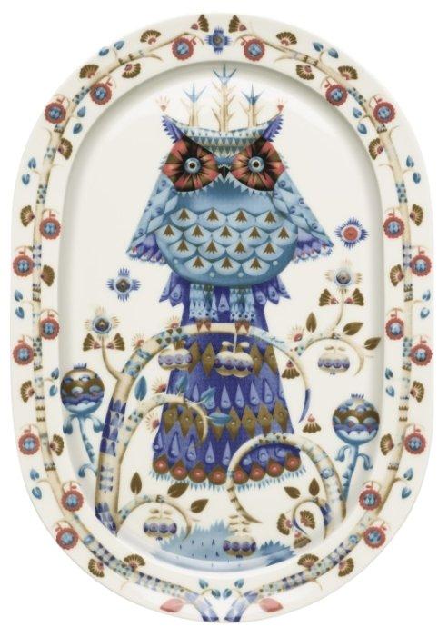 Тарелка для сервировки овальная Iittala Taika, 41 см., цвет белый