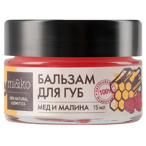 MI&KO Бальзам для губ Мёд и малинаДля губ<br>