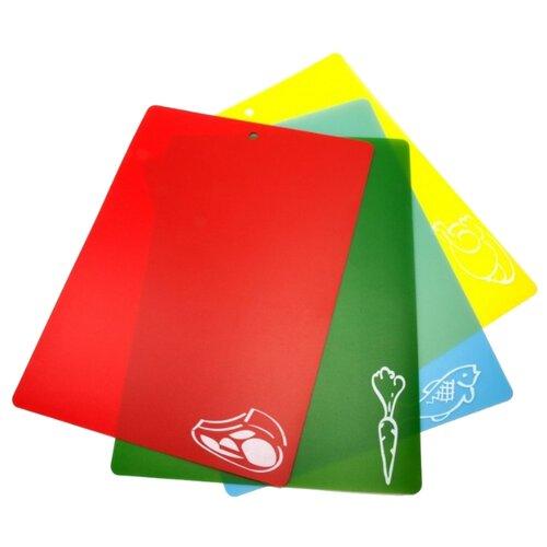 Набор разделочных досок BRADEX TK 0174 (4 шт.) 28х38 см красный/зеленый/голубой/желтый