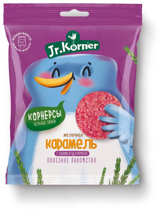 Мини хлебцы рисовые Jr.Korner Молочная карамель с соками ягод и фруктов 30 г