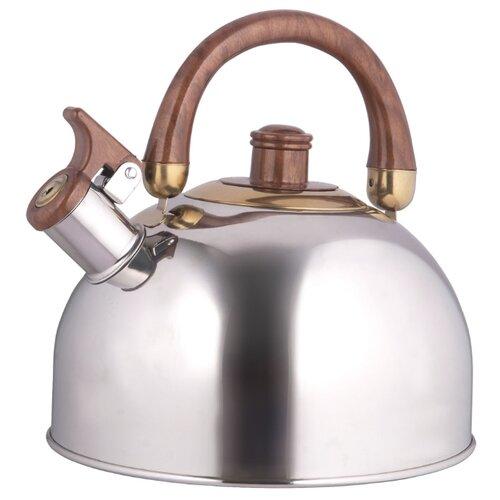 Rainstahl Чайник 7550-45 RS\WK 4,5 л серебристый/коричневый rainstahl заварочный чайник 7201 90 rs tp 900 мл стальной