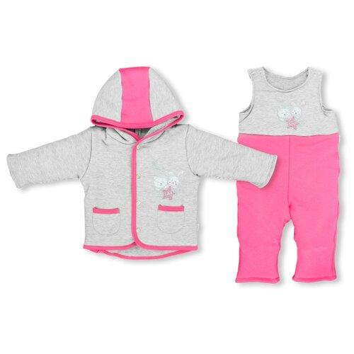 Комплект с полукомбинезоном LEO размер 68, малиновыйКомплекты верхней одежды<br>