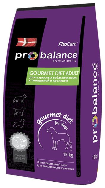 Корм для собак ProBalance Gourmet Diet Beef & Rabbit