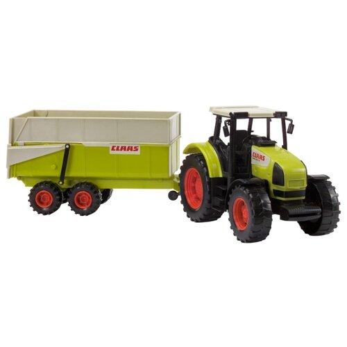 Трактор Dickie Toys с прицепом (3739000) 57 см зеленый трактор экскаватор falk педальный с прицепом зеленый 225 см