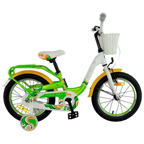 Детский велосипед STELS Pilot 190 18 V030 (2018) белый/зеленый/желтый (требует финальной сборки) велосипед stels pilot 450 2015