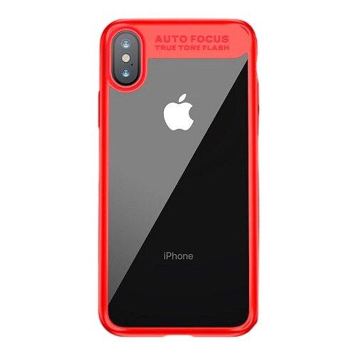 Фото - Чехол-накладка Baseus Suthin case для Apple iPhone X red чехол накладка baseus thin case для apple iphone x black