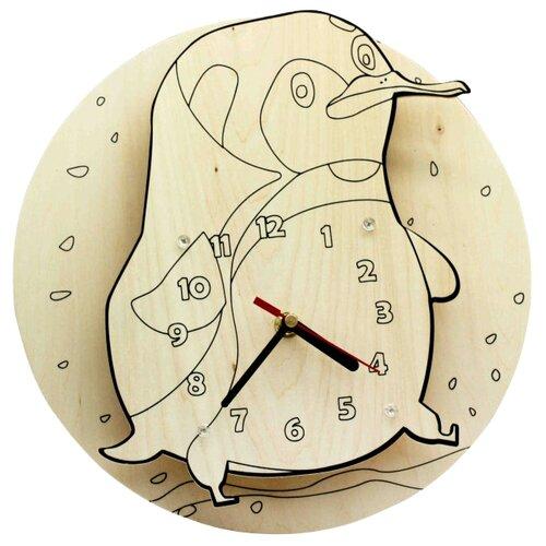Купить Robotime Набор для росписи Часы-конструктор Пингвин-раскраска (AC220P), Роспись предметов