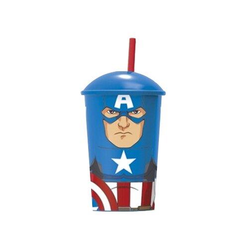 Фото - Stor Стакан пластиковый с соломинкой и крышкой 400 мл Мстители Капитан Америка stor кружка мстители 4