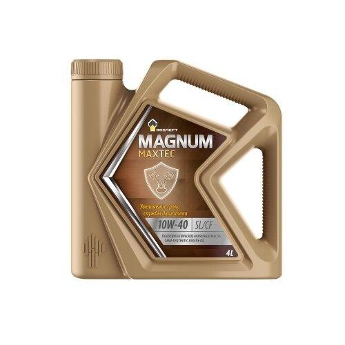 Фото - Моторное масло Роснефть Magnum Maxtec 10W-40 4 л rosneft масло моторное rosneft magnum maxtec 5w40 5л