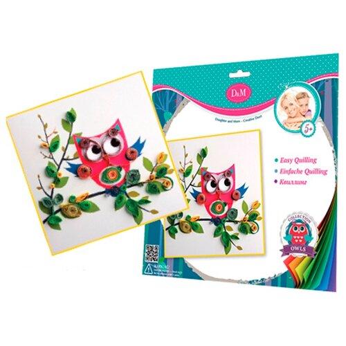 D&M набор Совенок 58019 розовый/голубой/зеленый