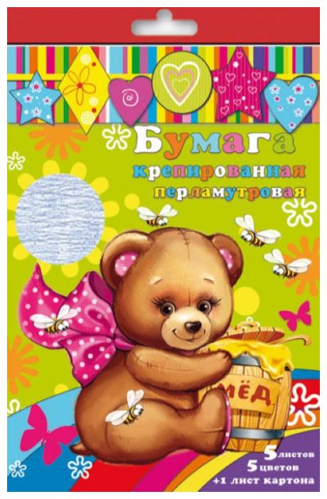 Набор цветного картона и цветной бумаги крепированной перламутровой 31378 Феникс+, A4, 6 л., 5 цв.