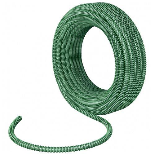 Шланг Сибртех спиральный армированный напорно-всасывающий 1 1/2 15 метров зеленый шланг спиральный армированный напорно всасывающий ф 38 мм 10 атм 30 метров сибртех