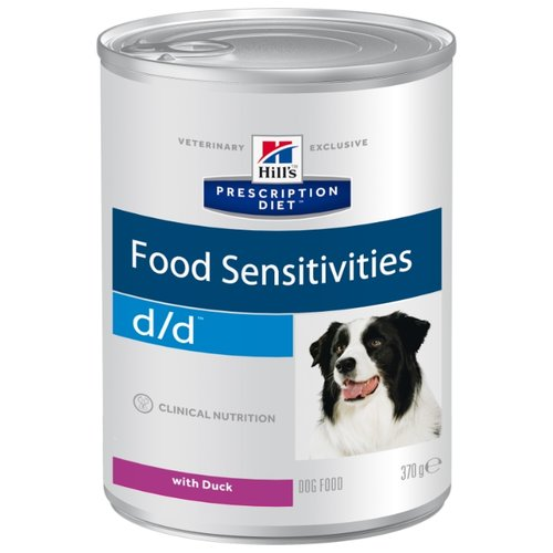 Корм для собак Hills (0.37 кг) 1 шт. Prescription Diet D/D Canine Skin Support Duck cannedКорма для собак<br>