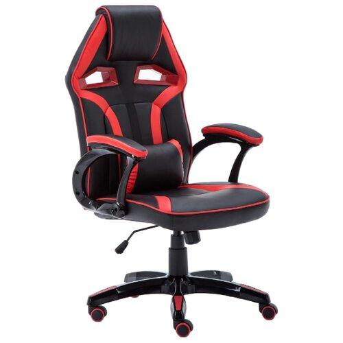 Компьютерное кресло COSTWAY ZK8066, обивка: искусственная кожа, цвет: черный/красныйКомпьютерные кресла<br>
