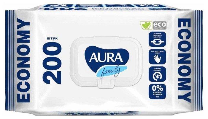 Салфетки влажные AURA Family 72 шт. 7044