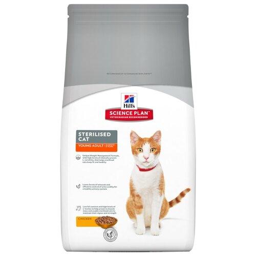 Корм для стерилизованных кошек Hills Science Plan для профилактики МКБ, с курицей 1.5 кгКорма для кошек<br>