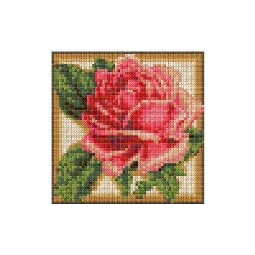 Купить Алмазная живопись Набор алмазной вышивки Румяная роза (АЖ-1450) 15х15 см, Алмазная вышивка