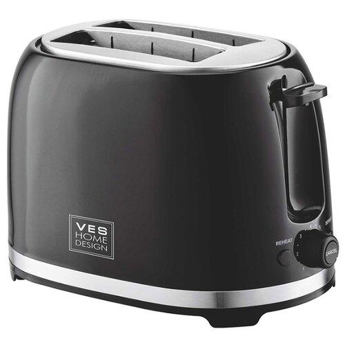 Тостер VES electric T-100-B, черный