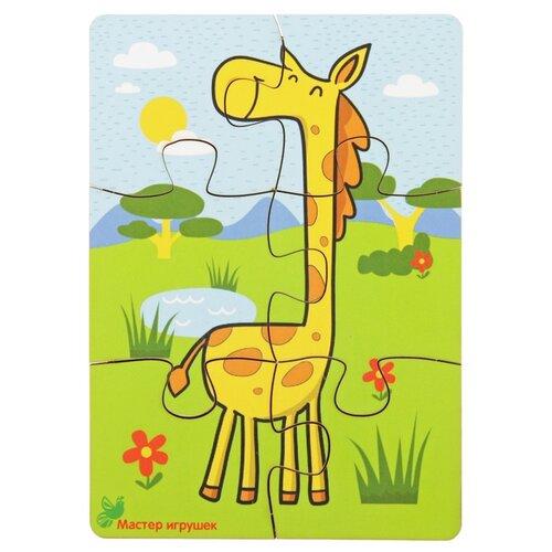 Фото - Пазл Мастер игрушек Жираф (IG0063), 6 дет. деревянные игрушки фабрика мастер игрушек пазл жираф ig0063