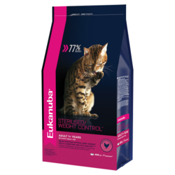 Корм для кошек Eukanuba Adult Dry Cat Food For Sterilised Cats Weight Control Chicken