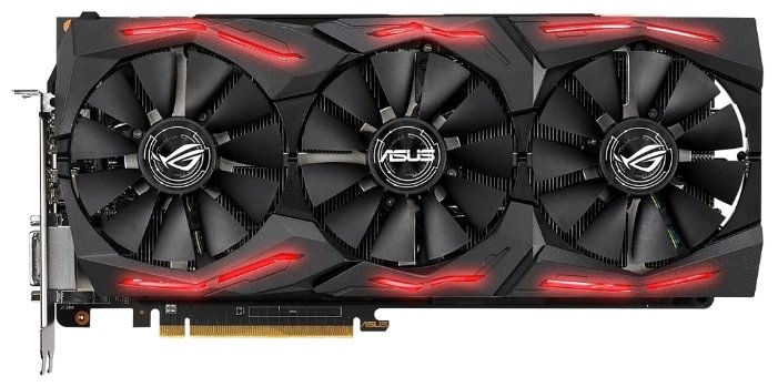 Видеокарта ASUS Radeon RX Vega 64 1590Mhz PCI-E 3.0 8192Mb 1890Mhz 2048 bit DVI 2xHDMI HDCP Strix Ga