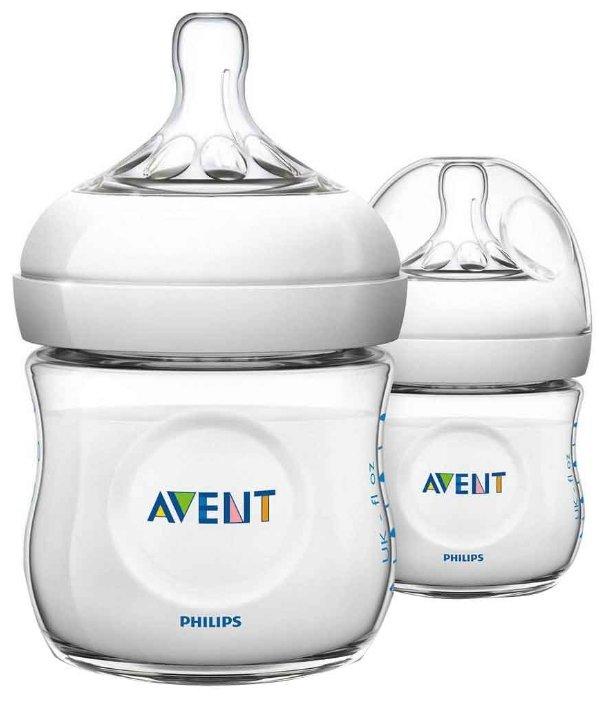 Philips AVENT Бутылочки полипропиленовые Natural SCF690/27 125 мл, 2 шт. с рождения