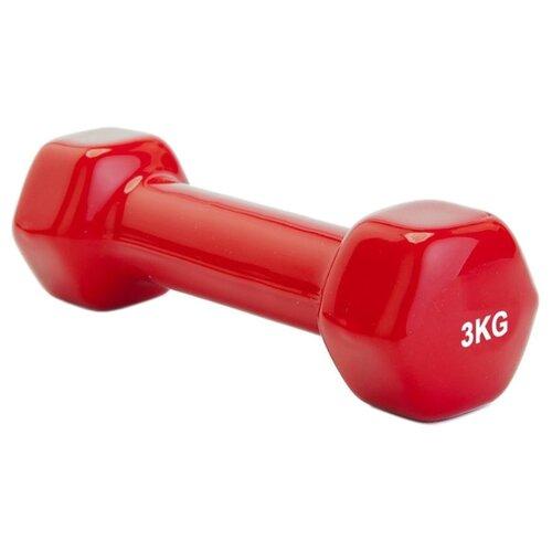 Гантель цельнолитая BRADEX SF 0163/SF 0164 3 кг красный