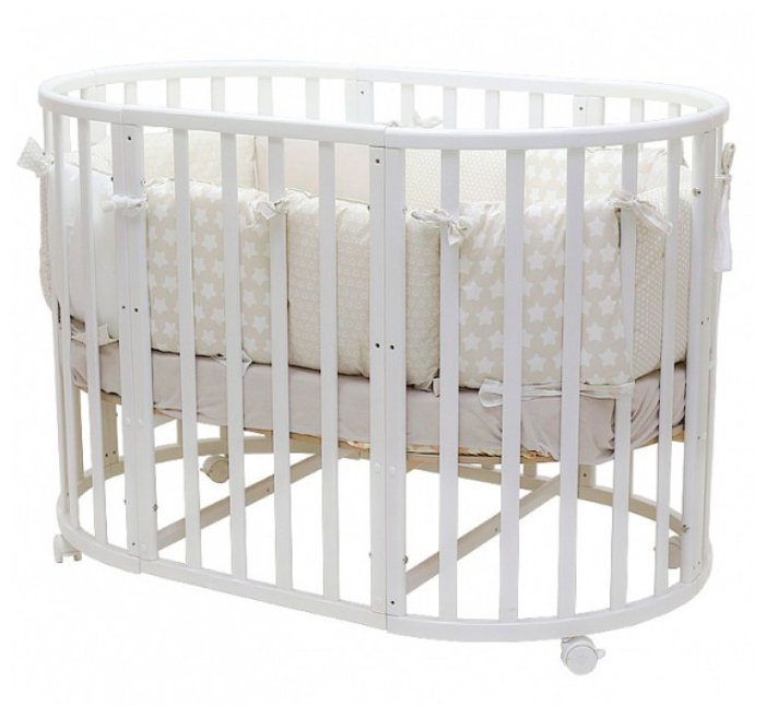 Кроватка MIKA 7в1 (2 матраса, маятник)