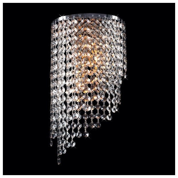 Настенный светильник Eurosvet Cinila 3102/2 хром / прозрачный хрусталь