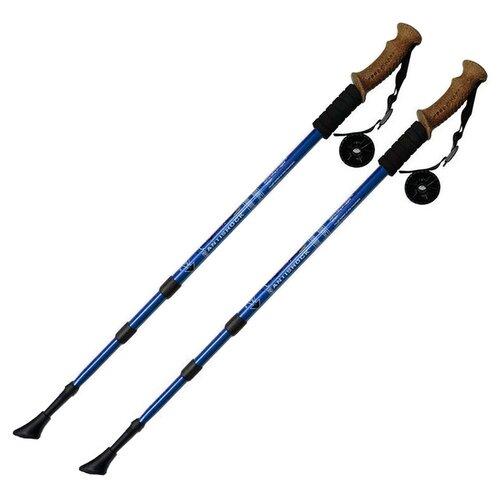 Палки для скандинавской ходьбы 2 шт. Hawk Телескопические с системой Антишок F18437 синий/черный