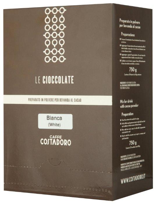 Costadoro Le Cioccolate White Chocolate Горячий шоколад растворимый Белый в пакетиках, 25 шт.