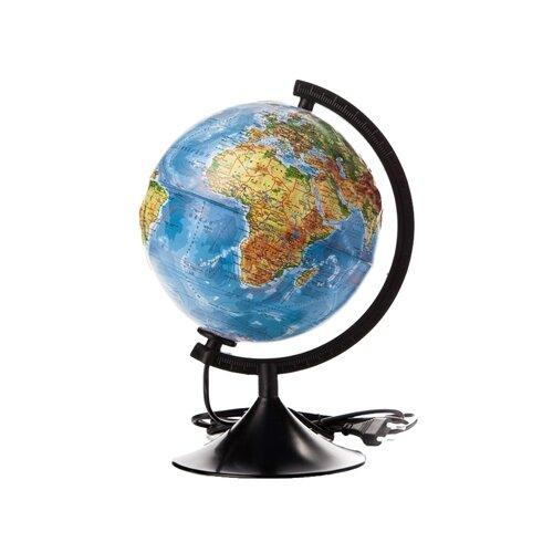 Фото - Глобус физический Globen 210 мм (К022100013) черный globen глобус земли globen физический с подсветкой 150 мм