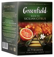 Чай черный Greenfield Sicilian Citrus ароматизированный в пирамидках
