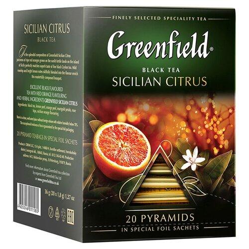 Чай черный Greenfield Sicilian Citrus в пирамидках, 20 шт.Чай<br>