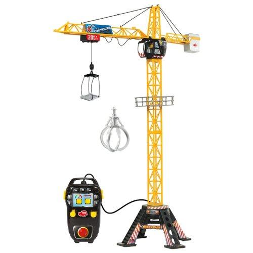 Купить Подъемный кран Dickie Toys Mega Crane (3462412) желтый, Радиоуправляемые игрушки