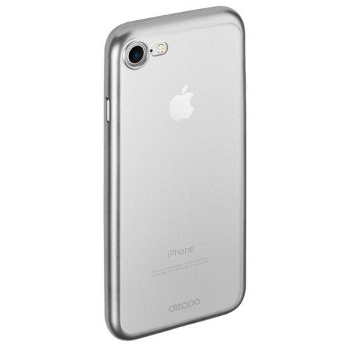 Чехол Deppa Gel Plus Case (матовый) для Apple iPhone 7/iPhone 8 серебряный guess чехол крышка guess для apple iphone 7 8 алюминий серебряный hard case