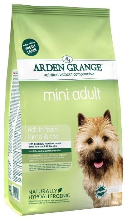 Корм для собак Arden Grange Adult Mini ягненок и рис для взрослых собак мелких пород