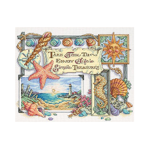 Dimensions Набор для вышивания Simple Treasures (Простые сокровища) 36 х 28 см (13696) dimensions набор для вышивания морские сокровища 20 х 10 см 65035