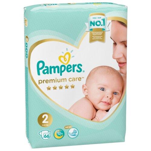 Купить Pampers подгузники Premium Care 2 (4-8 кг) 66 шт., Подгузники