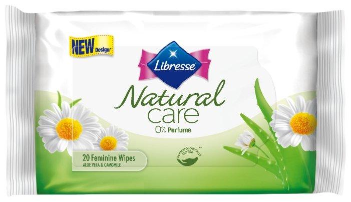 Libresse Влажные салфетки для интимной гигиены Natural Care, 20 шт