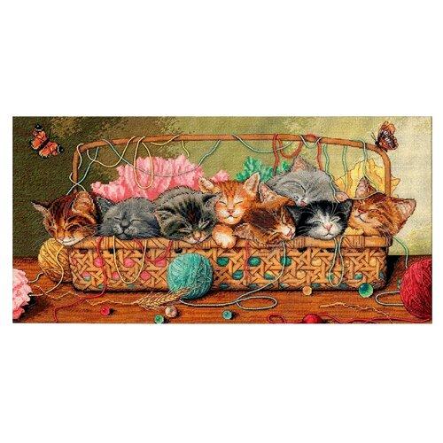 Купить Dimensions Набор для вышивания крестиком Котята 46 х 23 см (35184), Наборы для вышивания