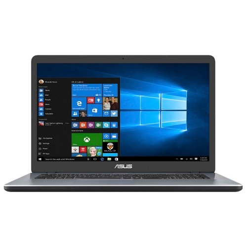 "Ноутбук ASUS VivoBook 17 X705MA-BX014T (Intel Pentium N5000 1100MHz/17.3""/1600x900/4GB/1000GB HDD/DVD нет/Intel UHD Graphics 605/Wi-Fi/Bluetooth/Windows 10 Home) 90NB0IF2-M00700 серый"