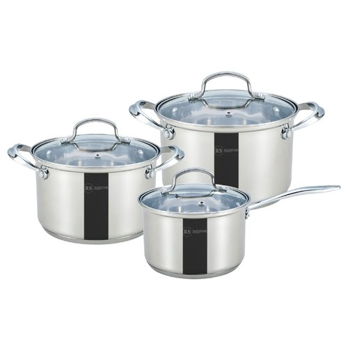 Набор посуды Rainstahl 1616-06RS\CW 6 пр. стальной набор посуды rainstahl с антипригарным покрытием 12 предметов цвет белый 1855 12rs cw мrb