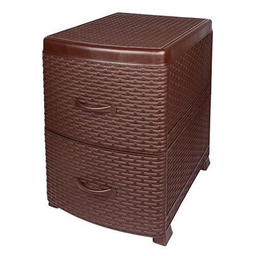 Комод Violet Ротанг 2 секции , размер: 38х48 см , цвет: коричневый