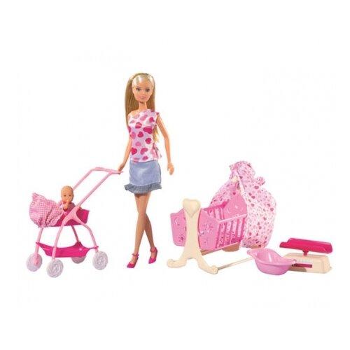 Набор кукол Steffi Love Штеффи с новорожденным, 29 см, 5730861
